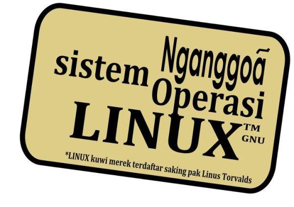 Stiker Nganggoa OS Linux