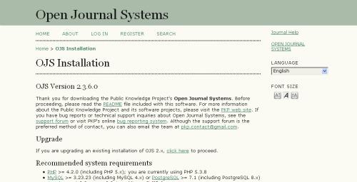 Instalasi OJS - localhost / ojs