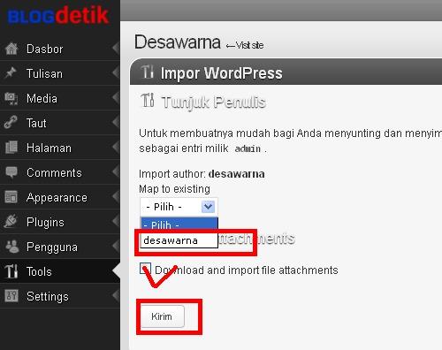 Blogdetik - Proses impor tunjuk penulis postingan blog
