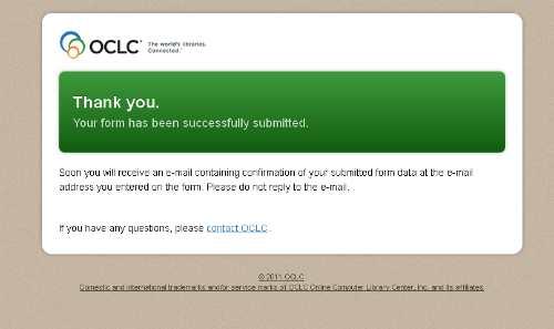Daftar OCLC - WebDewey Sukses