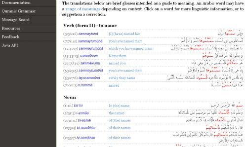 ww.quran.com Per Kata dalam Bahasa Inggris