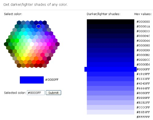 W3C - Colour Picker