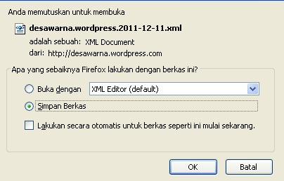 Wordpress - Nge Save file wordpress xml