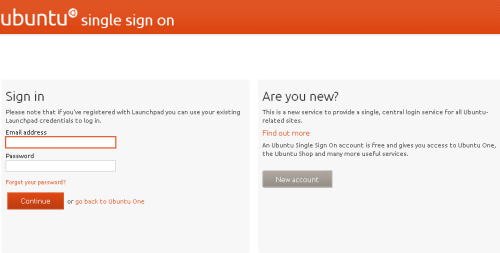 Ubuntu One - sign In sign up