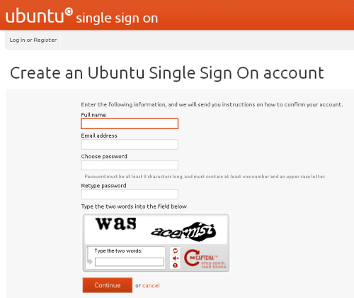 Ubuntu One - Sign Up Daftar