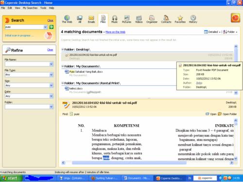 Copernice Desktop Search - Main Window