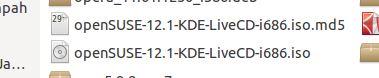 Folder Unduhan : openSUSE-12.1-KDE-LiveCD-i686.iso.md5 dan openSUSE-12.1-KDE-LiveCD-i686.iso