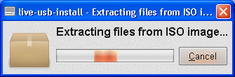 Live USB Install - Proses