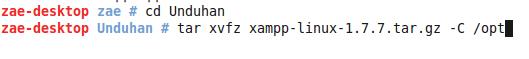 XAMPP - Install XAMPP -  Extract Paketan XAMPP Ke opt