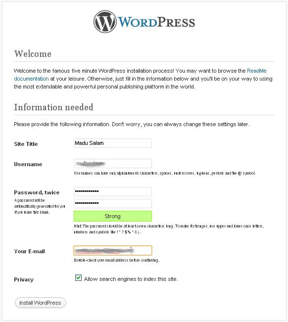 Namai WordPress Kamu