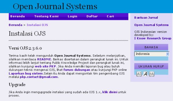 OJS Indonesia I Know Research Group