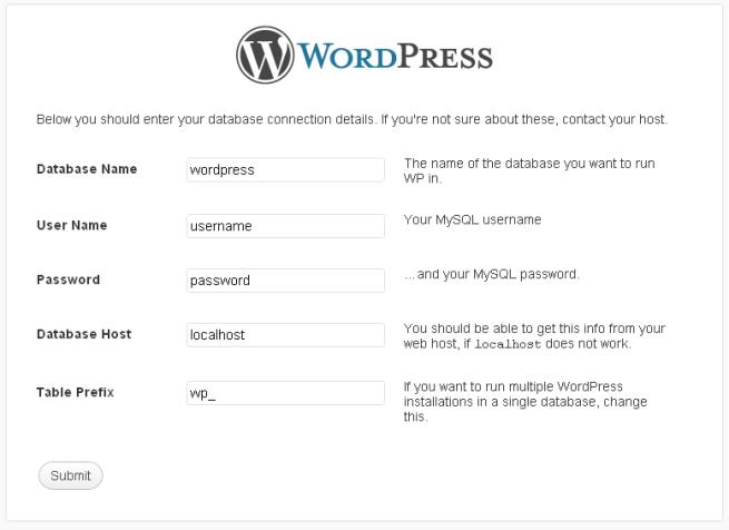 Isi nama database , user database , paswod , host , sesuaikan  dengan database yang kamu buat tadi